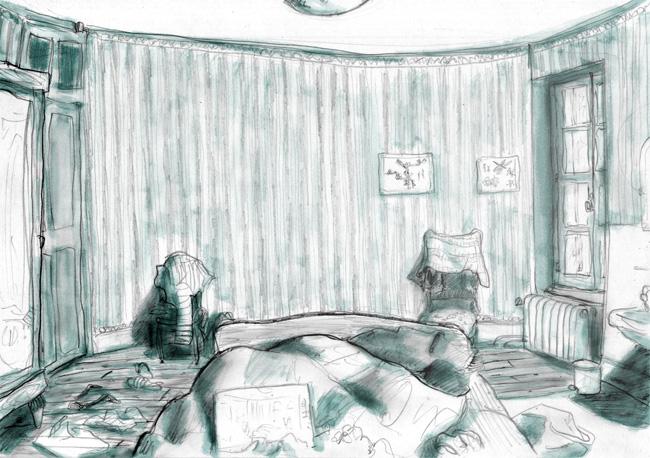 la chambre bleue